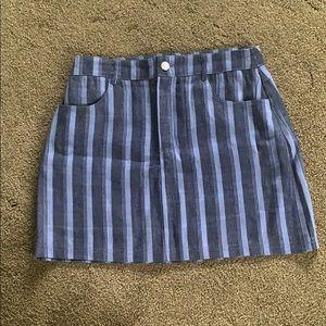Wild Honey A-Line Striped Skirt